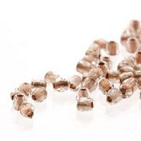Crystal Copper Lined Rush 2mm Fire Polished Faceted Round czech glass (True2) beads