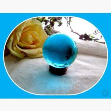 Into The Depths Aqua Crystal Healing Ball & Stand
