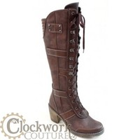 PUNK in steampunk boots - Tall Boots - Ladies - Footwear