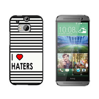 I Love Heart Haters HTC One M8 Case