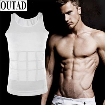 OUTAD Outdoor Hiking Men T shirt Corset Body Slimming Tummy Vest Belly Waist Girdle Shirt Shapewear Underwear Waist Girdle Shirt