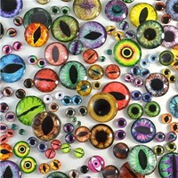 Glass Eye Lot - Mixed Sizes - 100 Glass Eyes - Discount Overstock Sale