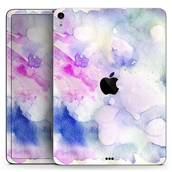 "Light Blue 3123 Absorbed Watercolor Texture - Full Body Skin Decal for the Apple iPad Pro 12.9"", 11"", 10.5"", 9.7"", Air or Mini (All Models Available)"