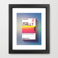 VHS and Chill Framed Art Print by Anthony Troester