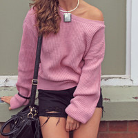 Study Break Pink Sweater