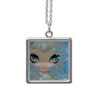 Faces of Faery 135 NECKLACE snowflake fairy from Zazzle.com