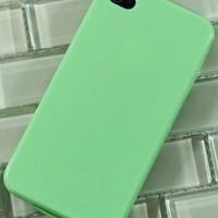 BasTexWireless Gel TPU Jelly Case Cover Soft for Apple iphone 4 - Mint Green