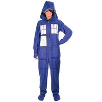 DOCTOR WHO PJ'S ADULT FOOTIES at Wireless Catalog | VP3762