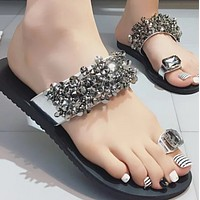 New style hot summer flat fashion all-match slippers