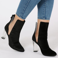 Clearly Yours Black Ankle Boot