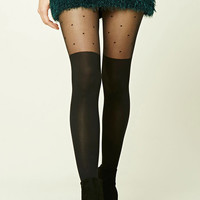 Dotted Opaque Tights