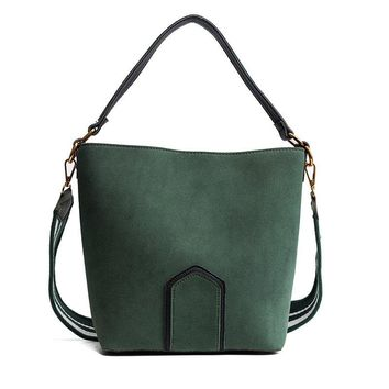 Frosted Leather Bucket Bag Wild Wide Shoulder Strap Shoulder Diagonal Package