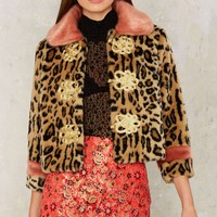 Nasty Gal Collection Under the Moon Faux Fur Coat