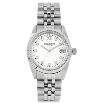 Forzieri Designer Women's Watches Trevi Silver Tone Stainless Steel Women's Watch