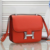 Hermès Women Fashion Leather Crossbody Shoulder Bag Satchel
