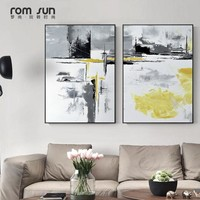 Abstract Paintings 3 piece art Black Yellow Canvas Art Wall Pictures Posters And Prints For Living Room Morden Home Decor Nordic