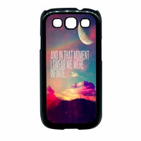 Perks Of A Wall Flower Quote Design Vintage Retro Samsung Galaxy S3 Case