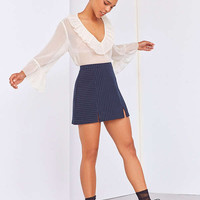 Cooperative Kendric Notch Hem Striped Skirt   Urban Outfitters