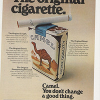 1974 Advertisement Camel Cigarettes Walk A Mile 70s Smoking Tobacciana Area Collectible Tobacco Wall Art Decor