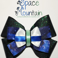 Space Mountain Hair Bow by MickeyWaffles on Etsy