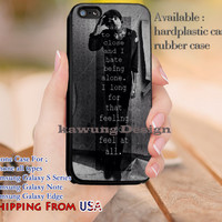 I Hate being Alone Oliver Sykes Quotes iPhone 6s 6 6s+ 5c 5s Cases Samsung Galaxy s5 s6 Edge+ NOTE 5 4 3 #music #bmth dl12