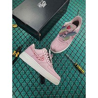 Nike Air Force 1 AF1 Low GS Fashion Shoes Pink Strawberry