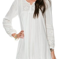 EMBROIDERED TUNIC MINI DRESS