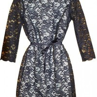 CaeliNYC navy blue lace dress by CaeliNYC