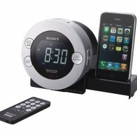 Sony ICF-C7IP Clock Radio for iPod and iPhone with Hidden Sliding Dock Tray: MP3 Players & Accessories