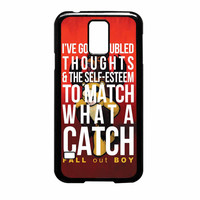 Fall Out Boy Watch A Catch Quote Samsung Galaxy S5 Case