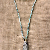 Sandy Tasseled Wrap-Around Necklace