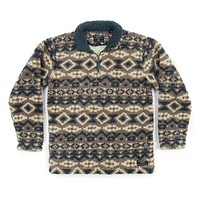 Appalachian Peak Sherpa Pullover in Tan and Navy by Southern Marsh