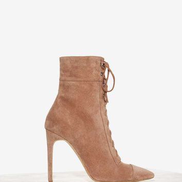 Jeffrey Campbell Elphaba Suede Boot - Taupe