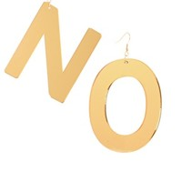 Limited Edition Perspex 'No' Letters Earrings