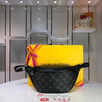 Kuyou Lv Louis Vuitton Fashion Women Men Gb29610 M44336 Monogram Eclipse Canvas Bags All Collections Discovery Bumbag 37.0 X 30.0 X 6.0cm