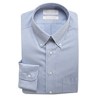 Gold Label Roundtree & Yorke Fitted Button-Down Collar Dress Shirt - B