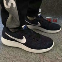 """""""NIKE"""" net surface breathable sneaker running casual shoes Navy blue"""