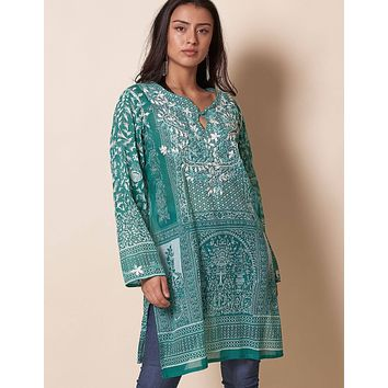 Indira Tunic - Emerald - As-Is-Clearance - XL Only