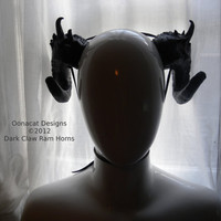 Costume horns   Dark Claw Ram Horns   Extra Large  Made by Oonacat