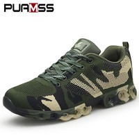 2018 New Man Sneakers for Men Rubber Running Shoes Army Green Breathable Mesh Sport Shoes Male Sneakers 40-44