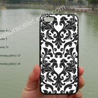iPhone 5 case cover,Faded White and Black Damask image,iPhone 5C case,Iphone 5 cover,iPhone 5S case,Samsung Galaxy S3 S4,iPhone 4 Case-382A