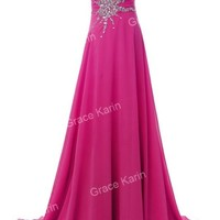 Women Long Strapless Beads Dress DRESSES Prom Party Evening Cocktail Ball Gown