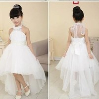 Baby Child Kids Girls Princess Party Evening Wedding Tailing Dress Skirt Clothes [7981322695]