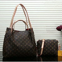 LV Louis Vuitton Hot Sale Women Leather Handbag Tote Shoulder Bag Purse Two-Piece