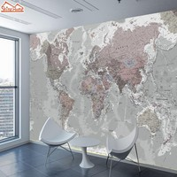 ShineHome-Two Styles Custom 3D Photo Wallpaper World Map Painting Wallpapers for 3 d Living Room Sofa TV Background Wall Paper