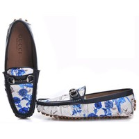 Gucci Man Fashion Edgy Multicolor Pattern Print Casual Shoes