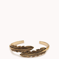 Etched Feathers Cuff