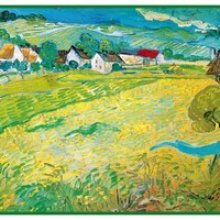 Sunny French Meadow in Arles by Vincent Van Gogh Counted Cross Stitch Pattern
