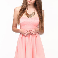 Pleated Sweetheart Skater Dress - LoveCulture