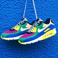 Nike Air Max 90 BETRUE Rainbow Series Color block Contrast Yellow blue green